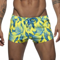 SHORT DE BAIN PLANTS JAUNE  ADS140 - ADDICTED