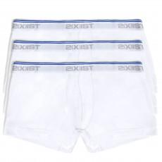 PACK DE TROIS BOXERS TAILLE BASSE EN COTON BLANC 021333 - 2(X)IST