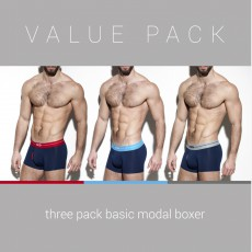 PACK DE 3 BOXERS BASIC MARINE UN249P - ES COLLECTION