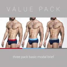PACK DE 3 SLIPS BASIC MARINE UN249P - ES COLLECTION