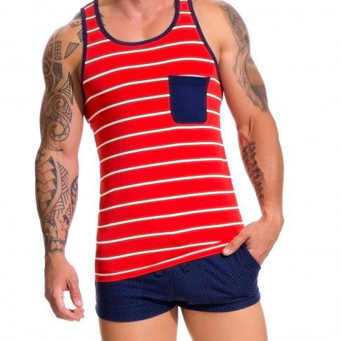 TANK TOP NAVAL ROUGE 0601 - JOR