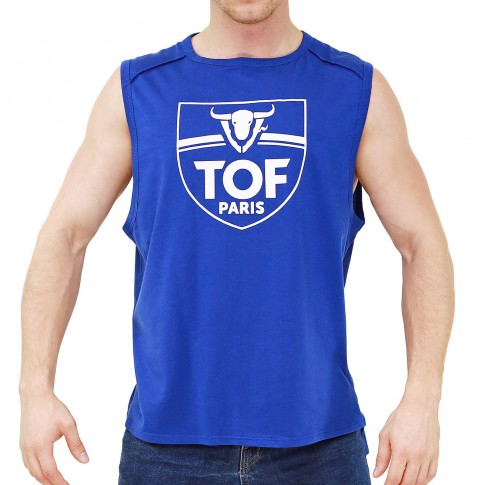 TANK TOP POWER BLEU ROYAL TS00026C-BR - TOF PARIS