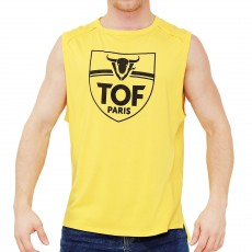 TANK TOP POWER JAUNE TS00026C-J - TOF PARIS