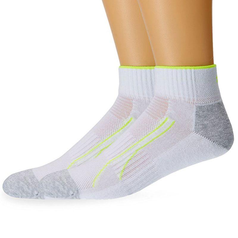Pack de 2 paires chaussettes training cell quarter blanc ...