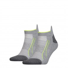 PACK DE 2 PAIRES CHAUSSETTES TRAINING CELL SNEAKER GRIS PERFORMANCE  - PUMA
