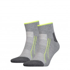 PACK DE 2 PAIRES CHAUSSETTES  TRAINING CELL QUARTER GRIS PERFORMANCE  - PUMA