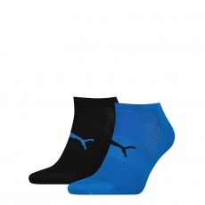 PACK DE 2 PAIRES CHAUSSETTES PERFORMANCE TRAIN LIGHT NOIR ET BLEU  - PUMA