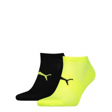 PACK DE 2 PAIRES CHAUSSETTES PERFORMANCE TRAIN LIGHT NOIR ET JAUNE  - PUMA