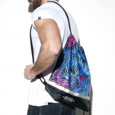 SAC REVERSIBLE EN NYLON PALMS BACKPACK NOIR - ES COLLECTION