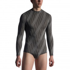 BODY PULLOVER MANCHES LONGUES NOIR  M807 - MANSTORE