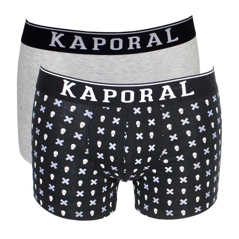 3c62366c7b6fb Pack de 2 boxers quago uni gris et tête de mort noir - kaporal ...