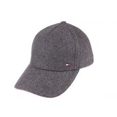 CASQUETTE EN LAINE MELTON CORPORATE GRIS AM0AM03996  - TOMMY HILFIGER