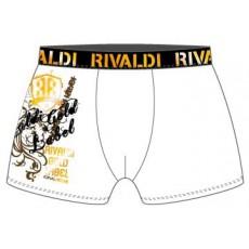 Boxer slip string homme sous vetement lingerie RIVALDI BOXER LABEL BLANC de RIVALDI