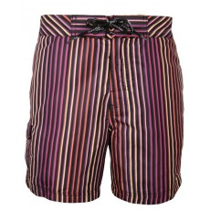 CK Swimwear - SHORT DE BAIN MEDIUM VIOLET/NOIR 58111W2_079