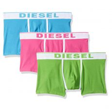 PACK DE 3 BOXERS COURTS DAMIEN THREE PACK COTON STRETCH TURQUOISE/ROSE/VERT - DIESEL