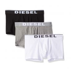 PACK DE 3 BOXERS COURTS DAMIEN THREE PACK COTON STRETCH NOIR/GRIS/BLANC - DIESEL