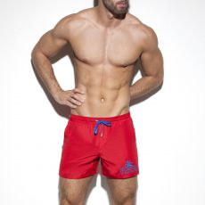 SHORT DE BAIN BASIC ROUGE 1922 - ES COLLECTION
