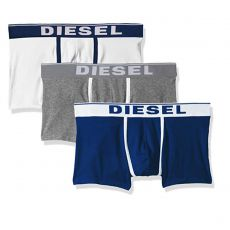 PACK DE 3 BOXERS COURTS DAMIEN THREE PACK COTON STRETCH BLANC/MARINE/GRIS - DIESEL
