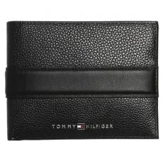 PORTEFEUILLE HORIZONTAL DOWNTOWN EXTRA CC AND COIN CUIR GRAINÉ M04861  - TOMMY HILFIGER