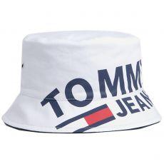 BOB LOGO BUCKET HAT BLANC 00560  - TOMMY JEANS