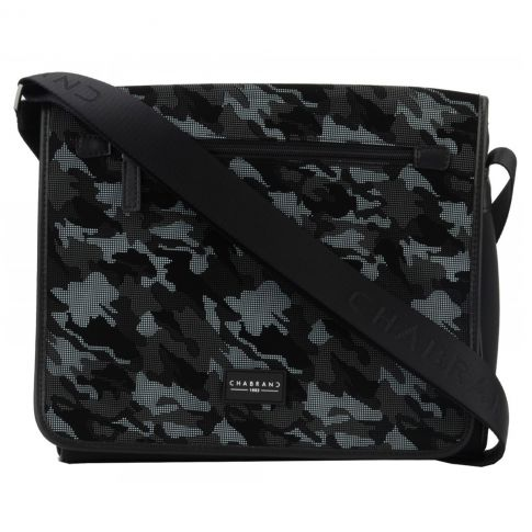 BESACE / PORTE TRAVERS ARMY EN TOILE GRIS - CHABRAND