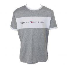 T-SHIRT GRIS COL ROND LOGO TOMMY HILFIGER UM0UM01170  - TOMMY HILFIGER
