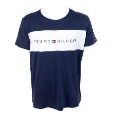 T-SHIRT NAVY COL ROND LOGO TOMMY HILFIGER UM0UM01170  - TOMMY HILFIGER