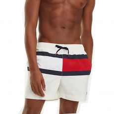 SHORT DE BAIN MEDIUM DRAWSTRING BLANC M01070 - TOMMY HILFIGER