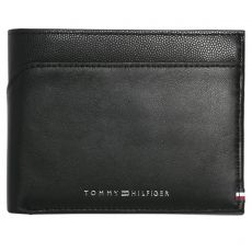 PORTEFEUILLE HORIZONTAL BI-MATERIAL EXTRA CC AND COIN NOIR M04540 M04861  - TOMMY HILFIGER