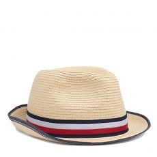 CHAPEAU STRAW HAT EN PAILLE M04502   - TOMMY HILFIGER