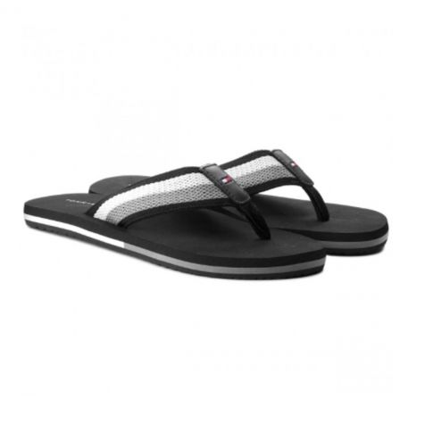 TONGS STRIPED BEACH NOIR M02085  - TOMMY HILFIGER