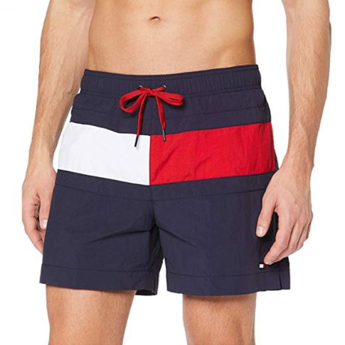 SHORT DE BAIN MEDIUM DRAWSTRING MARINE M01070 - TOMMY HILFIGER