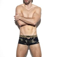 BOXER DOUBLE OPENING EN MESH MILITAIRE UN322 - ES COLLECTION