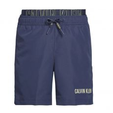 SHORT DE BAIN MEDIUM DOUBLE WAISTBAND MARINE KM0KM00300 - CALVIN KLEIN
