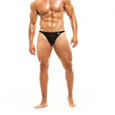 MINI SLIP DE BAIN LOW CUT BODYBUILDING NOIR - MODUS VIVENDI