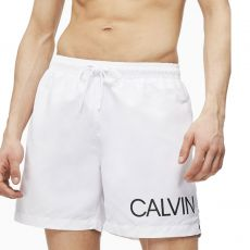 SHORT DE BAIN MEDIUM DRAWSTRING SIDE BLANC M00303  - CALVIN KLEIN