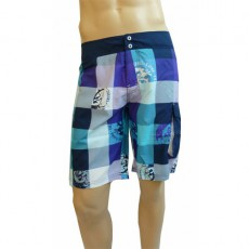 DIESEL SHORT DE BAIN LONG DECK BLEU