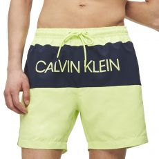 SHORT DE BAIN MEDIUM DRAWSTRING BLOCK VERT M00293  - CALVIN KLEIN