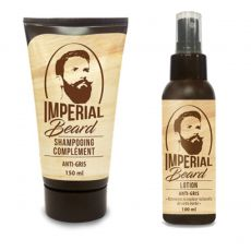 PACK ANTI BARBE GRISE LOTION+SHAMPOING - IMPERIAL BEARD