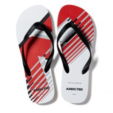 TONGS AD LOGO FLIP FLOP BLANCHES AD796 - ADDICTED