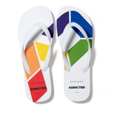 TONGS AD RAINBOW FLIP FLOP BLANCHES AD795 - ADDICTED