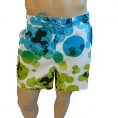 CK Swimwear - SHORT DE BAIN MEDIUM BLANC/BLEU 58113W2_055