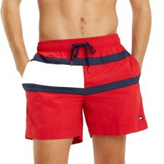 SHORT DE BAIN MEDIUM DRAWSTRING ROUGE M01070 - TOMMY HILFIGER