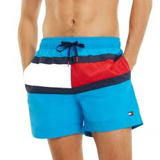 SHORT DE BAIN MEDIUM DRAWSTRING BLEU M01070 - TOMMY HILFIGER