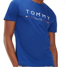 T-SHIRT COL ROND INSCRIPTION TOMMY BLEU M01167  - TOMMY HILFIGER