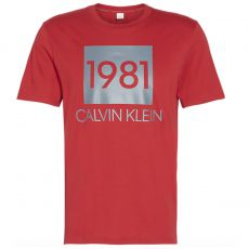 T-SHIRT CREW NECK MANCHES COURTES COL ROND ROUGE NM1708E - CALVIN KLEIN