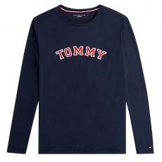 T-SHIRT NAVY MANCHES LONGUES  LOGO TOMMY BRODE UM0UM01628  - TOMMY HILFIGER