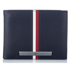 PORTEFEUILLE HORIZONTAL CORE PLAQUE STRIPE MARINE AM0AM05477 - TOMMY HILFIGER