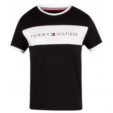 T-SHIRT NOIR COL ROND LOGO TOMMY HILFIGER UM0UM01170  - TOMMY HILFIGER