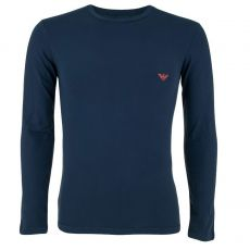 TEE SHIRT MANCHES LONGUES COL ROND REGULAR FIT MARINE 9A725 - EMPORIO ARMANI